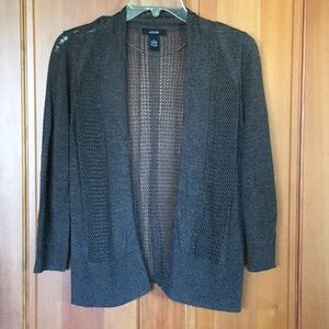 Lovely Alfani loose weave open cardigan, small